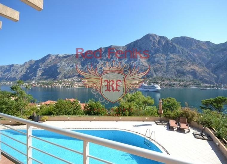 Продается комфортная квартира с панорамным видом на море и Котор.