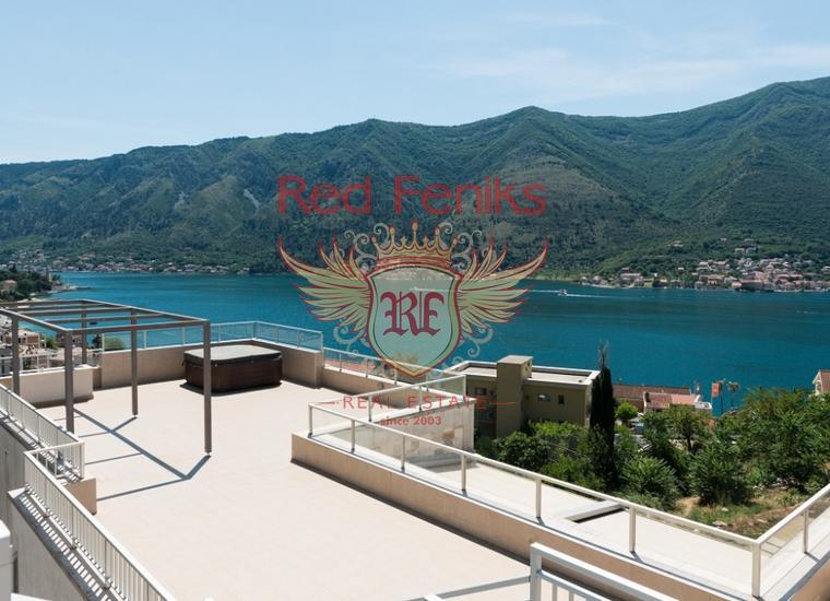 Квартира с 2 спальнями в комплексе с бассейном, Черногория, Квартира в Которский залив Черногория