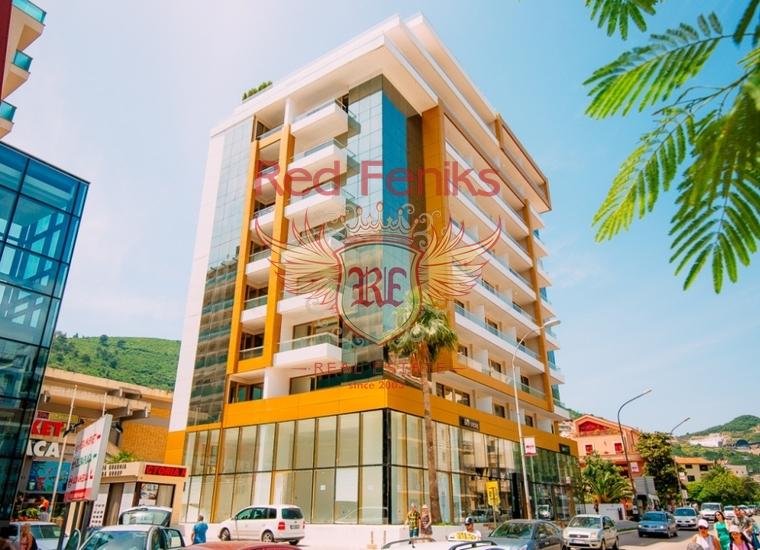 Продается пентхаус с двумя спальнями в новом апарт-отеле бизнес класса в самом центре Будвы.