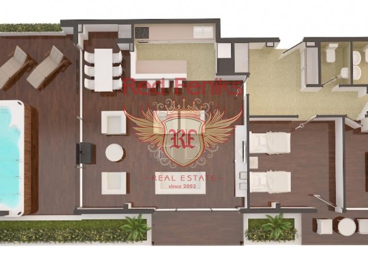 Пентхаус в новом апарт-отеле, Черногория, Квартира в Регион Будва Черногория