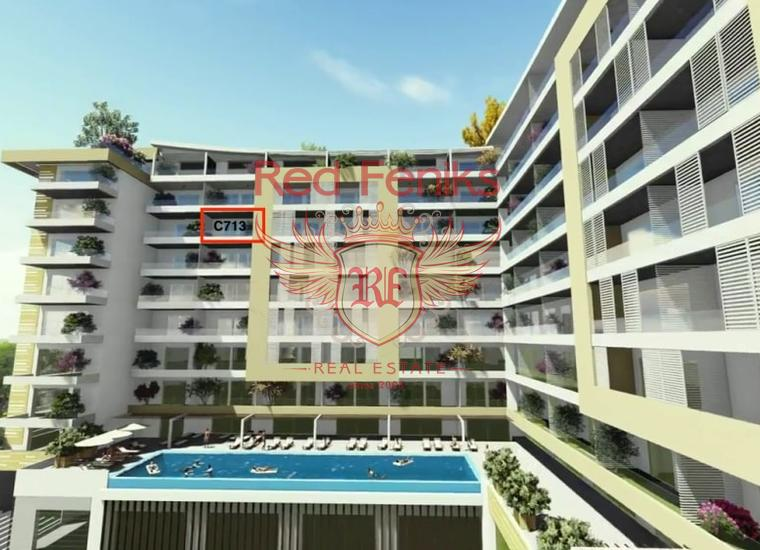 Панорамная квартира в Новом Жилом Комплексе в Будве, купить квартиру в Регион Будва