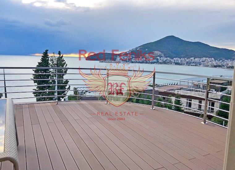 Панорамная квартира на берегу моря в Будве, купить квартиру в Будва