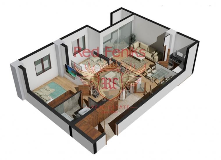 Отличные Новые Квартиры, Квартира в Бар Черногория