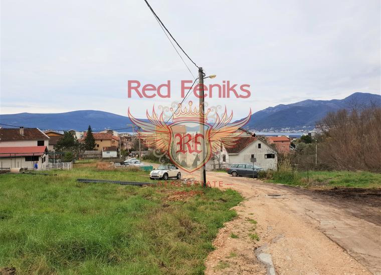 Урбанизированный участок с видом на море в Тивате, Земля в Регион Тиват Черногория