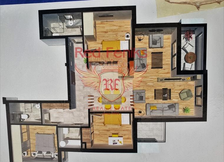 Новый пентхаус с панорамным видом на море в Тивате, купить квартиру в Регион Тиват