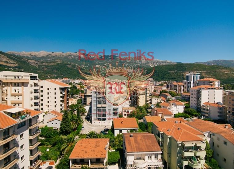 Трехкомнатная квартира с видом на море всего в 100 метрах от моря в Будве, Квартира в Будва Черногория