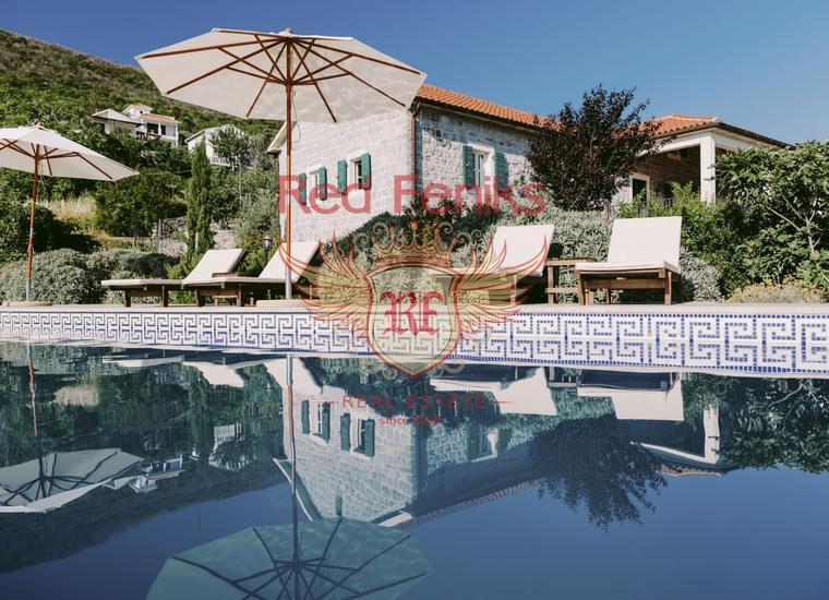 Роскошная вилла с бассейном на полуострове Луштица, Дом в п-ов Луштица Черногория