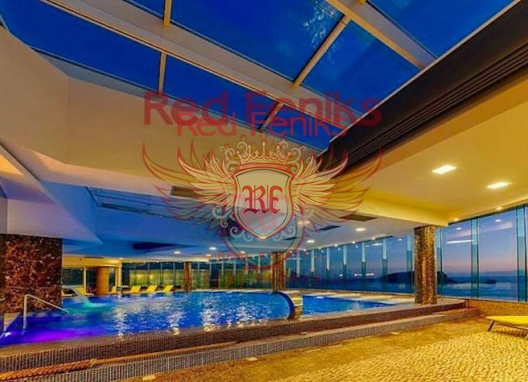 Квартиры в комплексе на первой линии в Будве, купить квартиру в Будва
