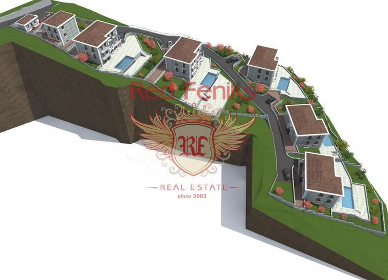 Урбанизированный участок под строительство вилл возле Херцег-Нови, Земля в Херцег Нови Черногория