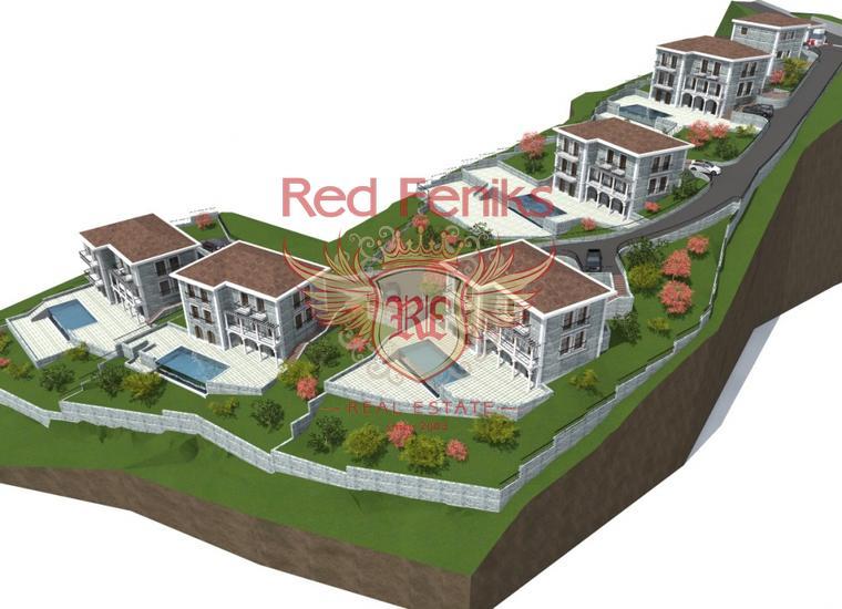 Урбанизированный участок под строительство вилл возле Херцег-Нови, Участок Херцег Нови Черногория