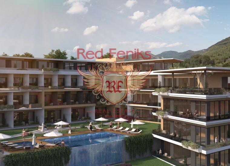 Квартиры с одной спальней в горном комплексе в Тивате, Квартира в Регион Тиват Черногория