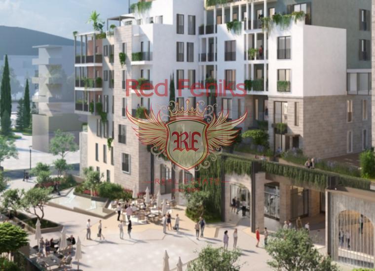 Четырехкомнатные квартиры в новом комплексе в Тивате, Квартира в Тиват Черногория