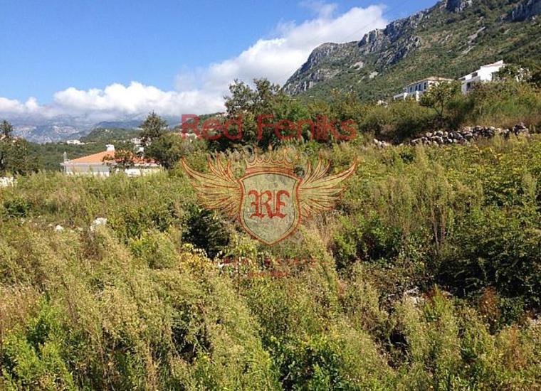 Панорамный участок в Близикучах, Земля в Регион Будва Черногория