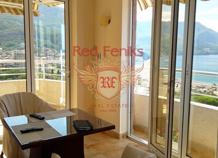 Четырехкомнатная квартира в Бечичах, Квартира в Будва Черногория