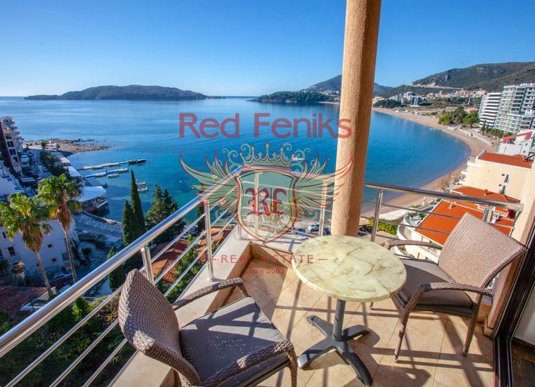 Пентхаус в Рафаиловичах с панорамным видом на море, Квартира в Рафаиловичи Черногория