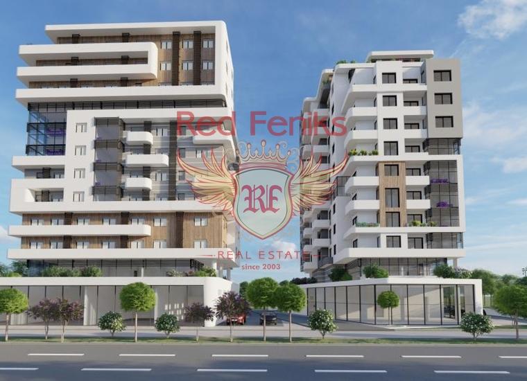 Квартиры в новом доме возле моря в Баре, Квартира в Регион Бар и Ульцинь Черногория