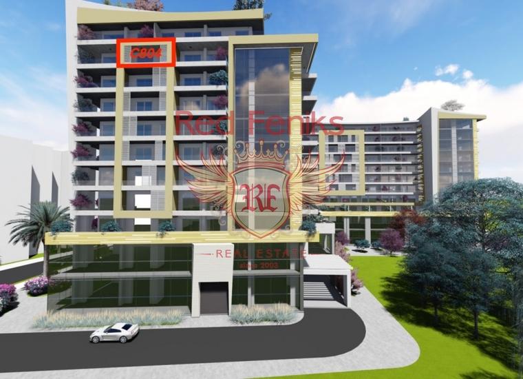 Продается двухкомнатная квартира в новом жилом компексе на первой линии .