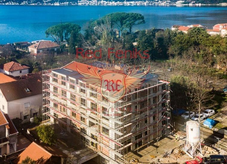 Новые квартиры в Тивате на берегу моря, Квартира в Тиват Черногория