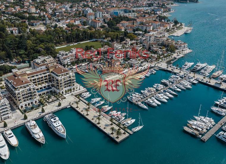 Трехкомнатные Квартиры в элитном комплексе Porto Montenegro на первой линии в Тивате, купить квартиру в Регион Тиват