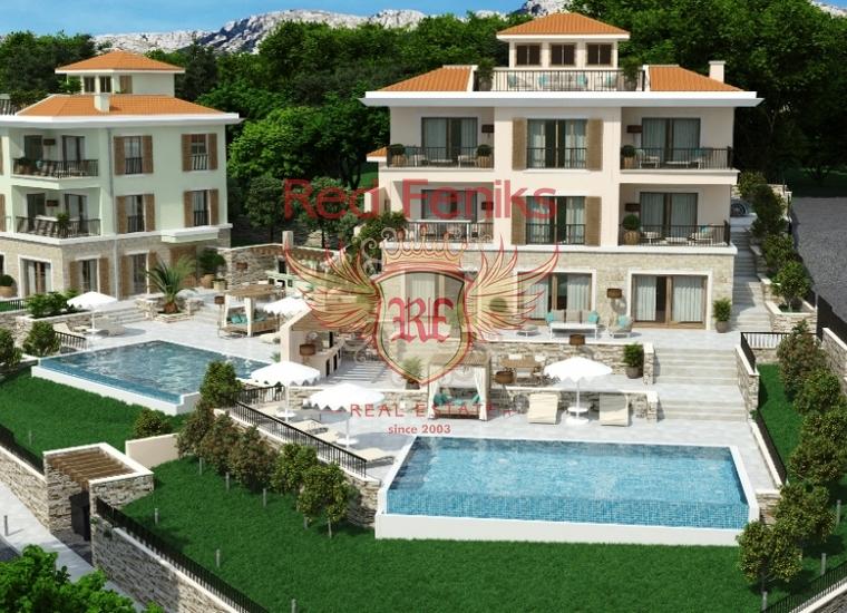 Две роскошные виллы, каждая площадью по 600м2 будут построены в самой престижном поселке на побережье, в Близикуче.