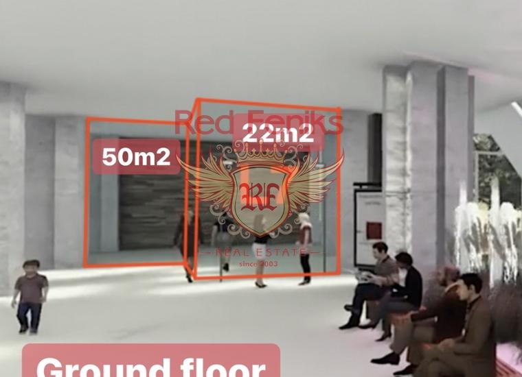 Коммерческое помещение в новом современном комплексе в Будве на первой линии, купить коммерческую недвижимость в Регион Будва
