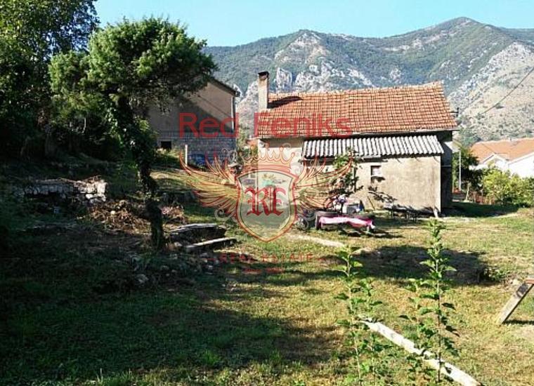 Отличный участок с домом в живописном поселке Доброта, Вилла в Доброта Черногория