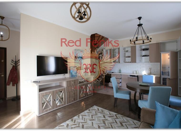 Двухуровневая квартира в Черногории. Г. Рисан, Квартира в Пераст Черногория