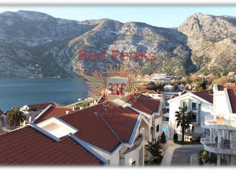 Двухуровневая квартира в Черногории. Г. Рисан, купить квартиру в Пераст