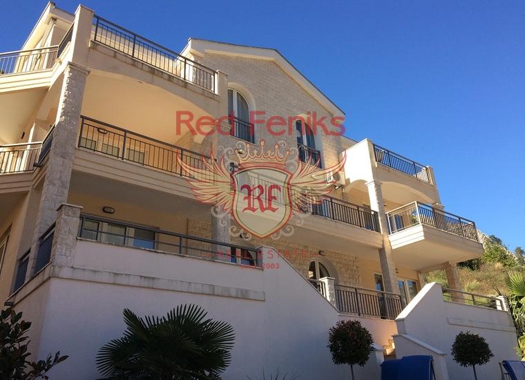 Великолепная квартира с видом на залив и старый город Котор, купить квартиру в Которский залив