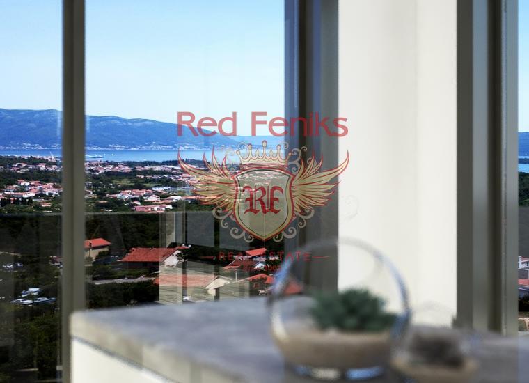 Квартиры с одной спальней в горном комплексе в Тивате, купить квартиру в Регион Тиват