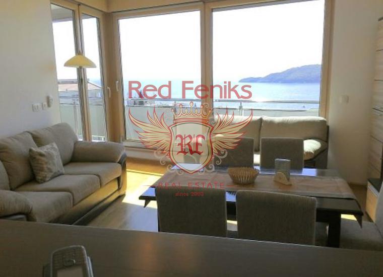Великолепная Квартира с Видом на Море в Бечичи, купить квартиру в Бечичи