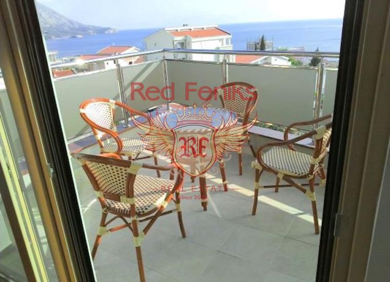 Великолепная Квартира с Видом на Море в Бечичи, Квартира в Бечичи Черногория