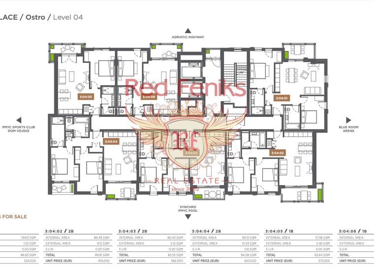 Лучшее вложение в недвижимость двухкомнатные квартиры , Тиват, купить квартиру в Тиват
