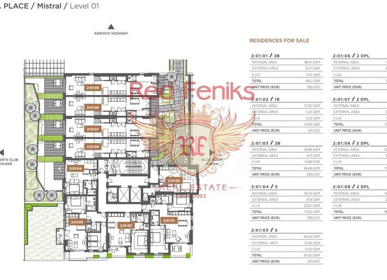 Двухкомнатные Квартиры в элитном комплексе Porto Montenegro на первой линии в Тивате, Квартира в Тиват Черногория