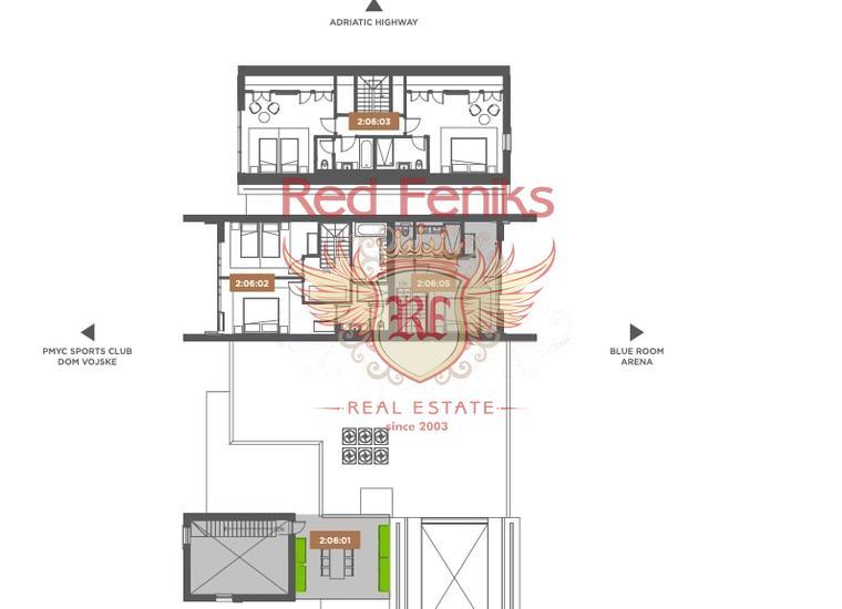 Двухкомнатные Квартиры в элитном комплексе Porto Montenegro на первой линии в Тивате, купить квартиру в Тиват
