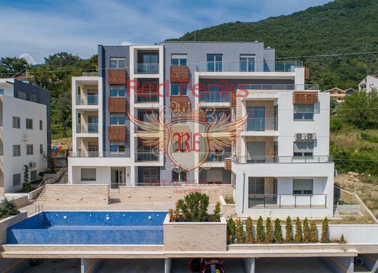 Новый жилой комплекс класса lux с 16 апартаментами в городе Тиват, Черногория.