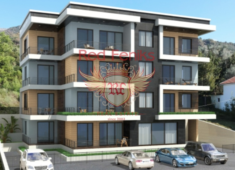 Новый современный комплекс в Тивате, Квартира в Регион Тиват Черногория