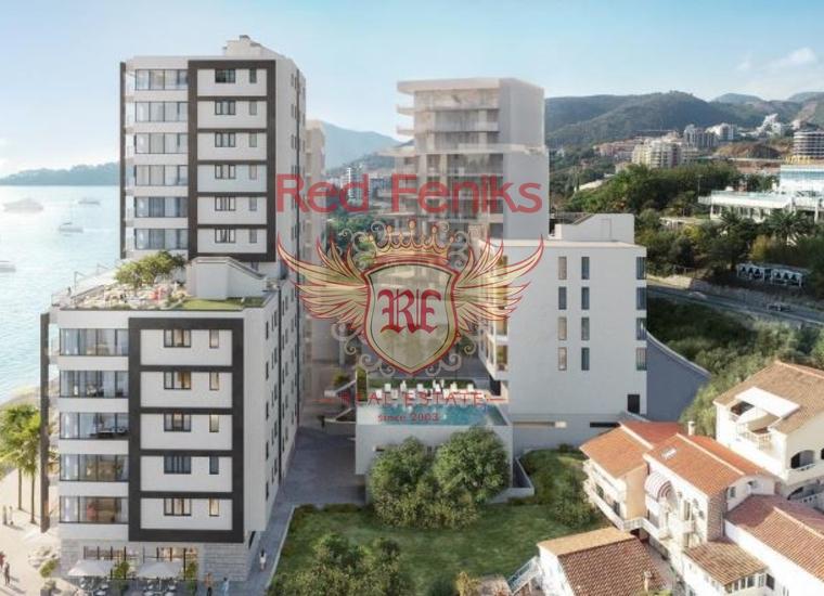 Новый Жилой Комплекс на Первой Линии, Квартира в Регион Будва Черногория