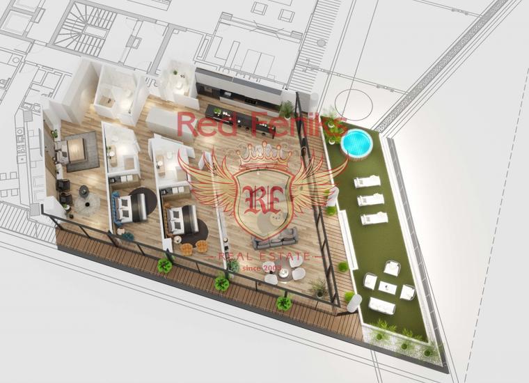 Новый жилой комплекс класса люкс в Бечичи, Квартира в Бечичи Черногория