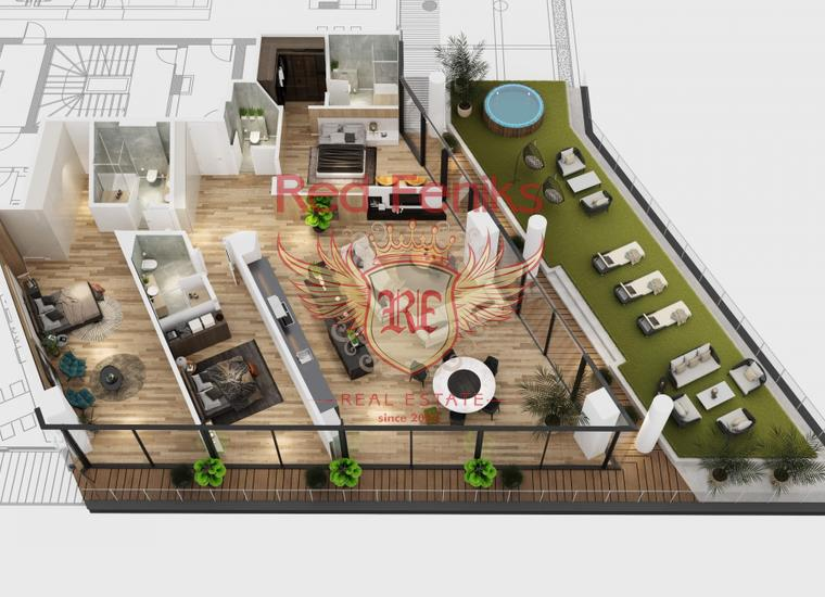Новый жилой комплекс класса люкс в Бечичи, купить квартиру в Бечичи