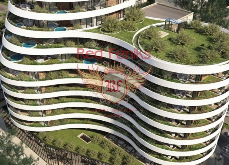 Продается двухкомнатная квартира в новом жилом комплексе, расположенном на первой линии в Будве.