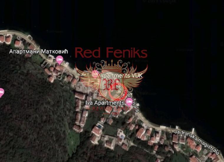 Участок на первой линии Столив, Земля в Которский залив Черногория