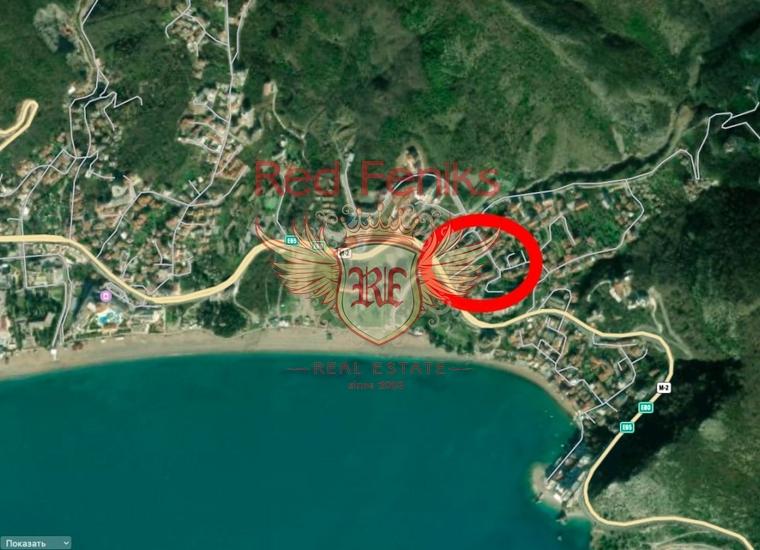 Инвестиционный участок в Бечичах, Земля в Регион Будва Черногория