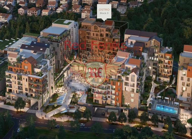 Четырехкомнатные квартиры в новом комплексе в Тивате, Квартира в Регион Тиват Черногория