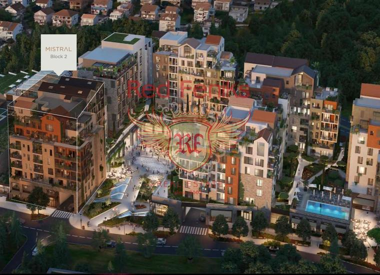 Двухкомнатные Квартиры в элитном комплексе Porto Montenegro на первой линии в Тивате, Квартира в Регион Тиват Черногория
