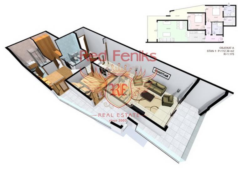 Квартиры в современном комплексе в Добрых Водах, купить квартиру в Регион Бар и Ульцинь