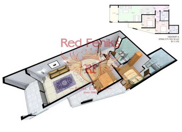 Квартиры в современном комплексе в Добрых Водах, купить квартиру в Бар