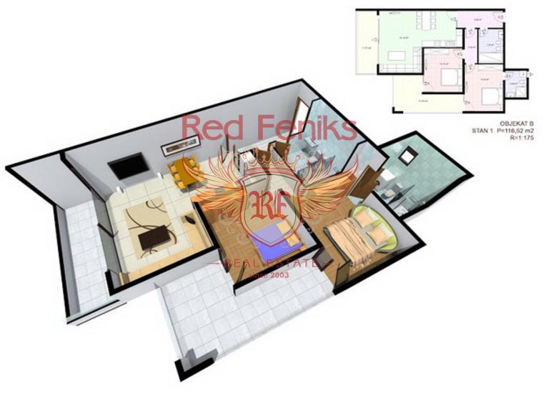 Квартиры в современном комплексе в Добрых Водах, Квартира в Регион Бар и Ульцинь Черногория