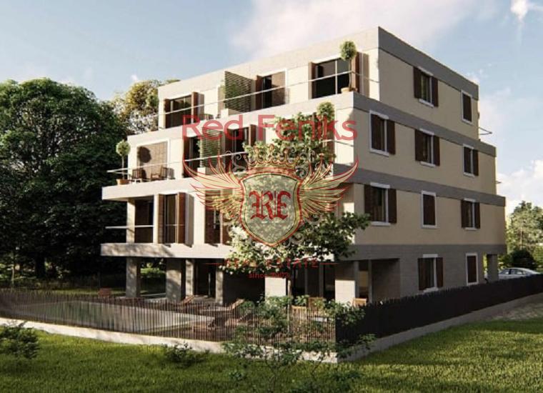 Апрартаменты в новом жилом комплексе в Тивате Здание расположено в 50 метрах от моря.