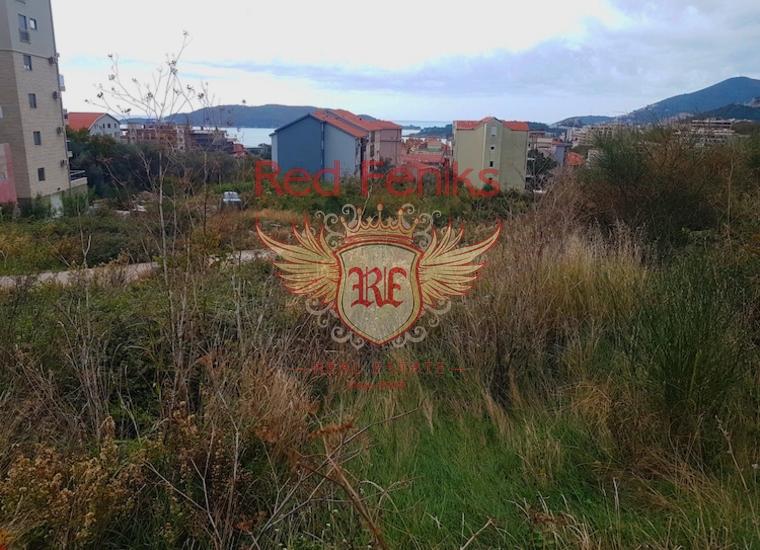 Строительный участок с панорамным видом на море в Бечичи, Участок Бечичи Черногория